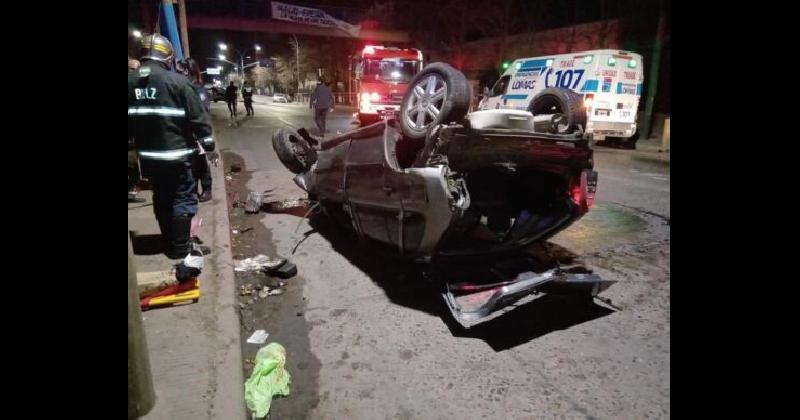 tres personas fueron trasladadas al Hospital de Llavallol con heridas leves