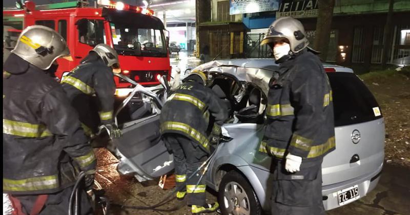 Participaron dos dotaciones de bomberos en el lugar