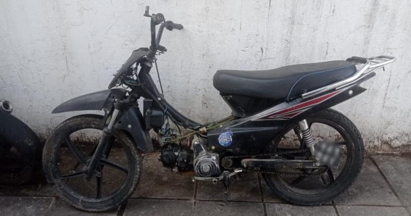 La moto recuperada