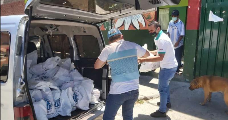 Las entregas se realizaron en distintos barrios de la zona Sur
