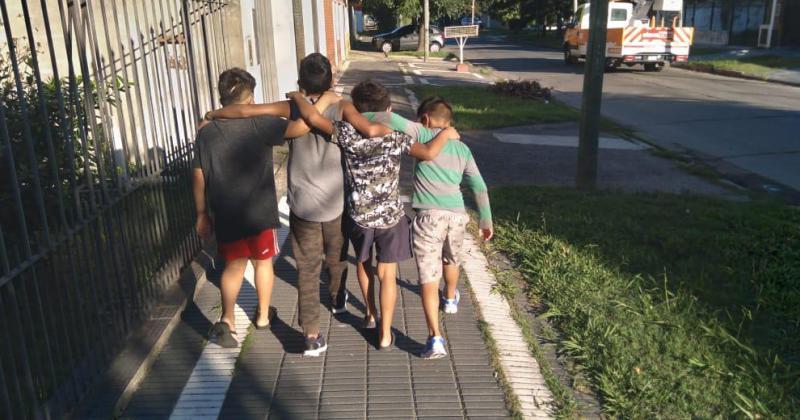 Los chicos llegan al hogar por una decisión judicial