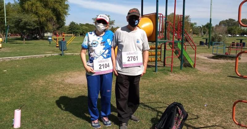 Miguel y Karina se anotaron para correr durante todo el año