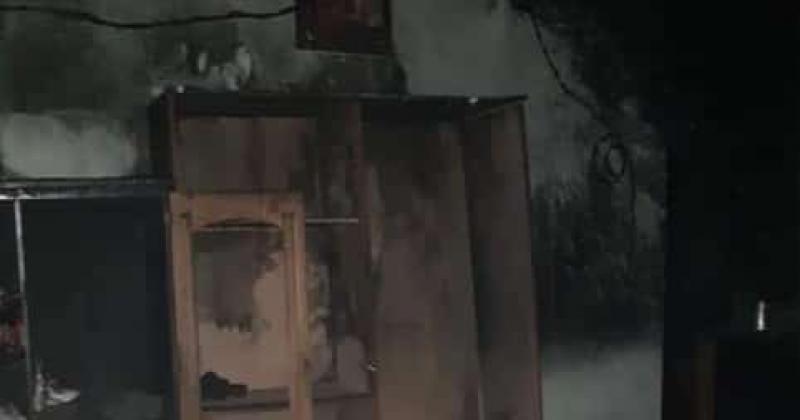 La casa quedó destruida tras el incendio del s?bado