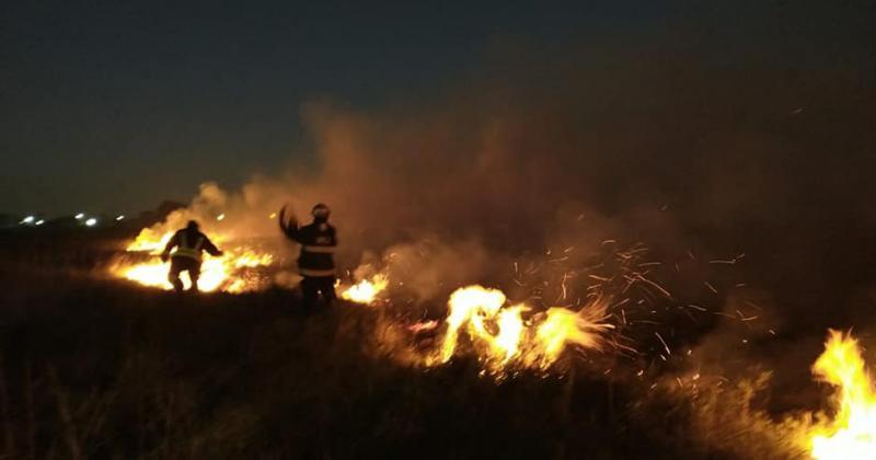 Incendio en el predio Covelia