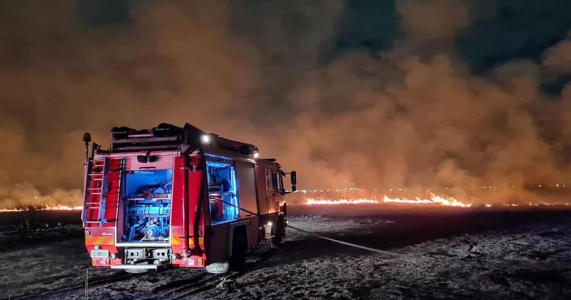 Asistieron también los bomberos de Echeverría