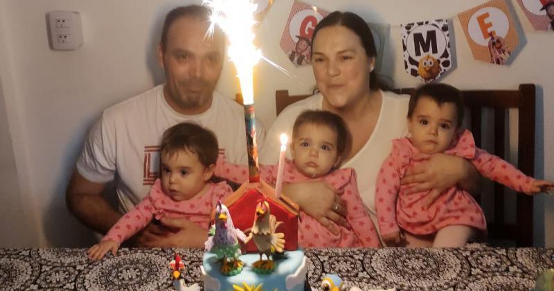 Un día muy especial para la familia de las nenas